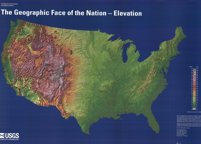 Us Elevation Map Pdf Us Map Of The United States - Terrain map us
