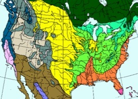 Mapping Us North American Earth Systems - Biome-map-us